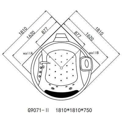Акриловая ванна Gemy G9071 II O (фото, вид 6)