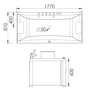 Акриловая ванна Gemy G9076 K (фото, вид 4)