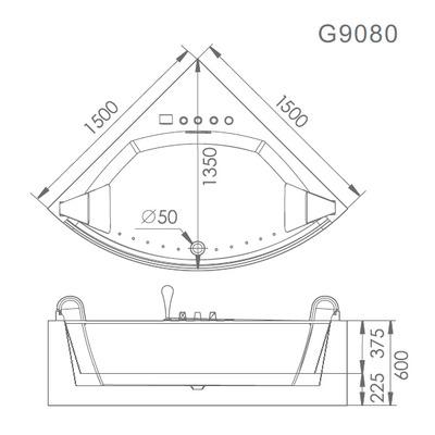 Акриловая ванна Gemy G9080 O (фото, вид 5)