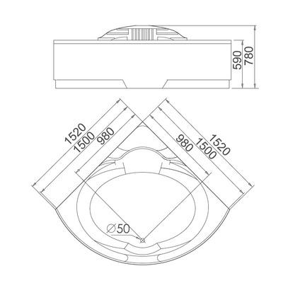 Акриловая ванна Gemy G9082 O (фото, вид 4)
