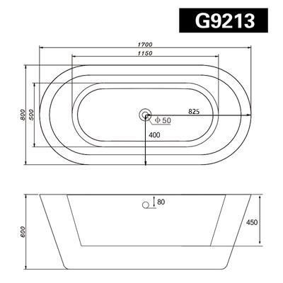 Акриловая ванна Gemy G9213 (фото, вид 4)