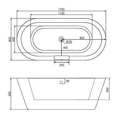 Акриловая ванна Gemy G9213C (фото, вид 4)