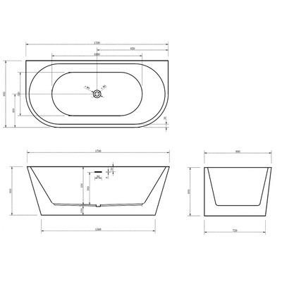 Акриловая ванна Gemy G9216 (фото, вид 4)
