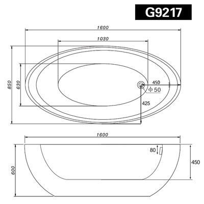 Акриловая ванна Gemy G9217 (фото, вид 5)