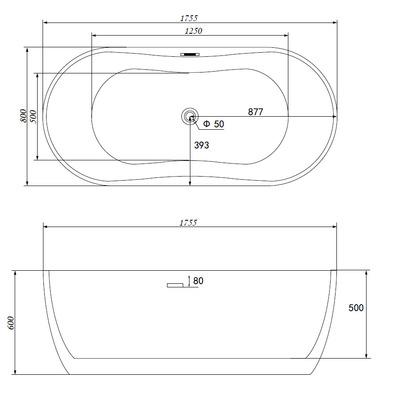 Акриловая ванна Gemy G9219 E (фото, вид 6)