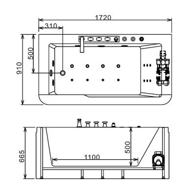 Акриловая ванна Gemy G9225 K (фото, вид 6)