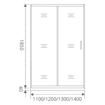 Душевое ограждение GOOD DOOR LATTE WTW-130-C-WE (фото, вид 3)