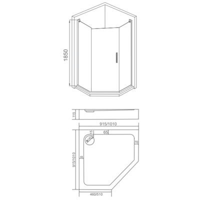 Душевое ограждение GOOD DOOR PANDORA PNT 90 (фото, вид 5)