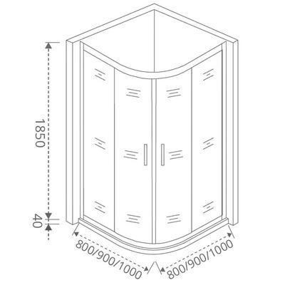 Душевое ограждение GOOD DOOR LATTE R -100-G-WE (фото, вид 4)