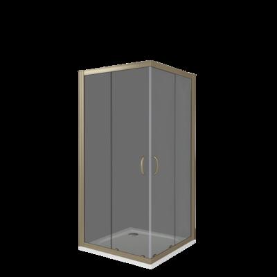 Душевое ограждение GOOD DOOR JAZZE CR -100-G-BR (фото, вид 2)