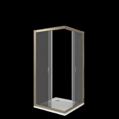 Душевое ограждение GOOD DOOR JAZZE CR -100-G-BR (фото, вид 3)