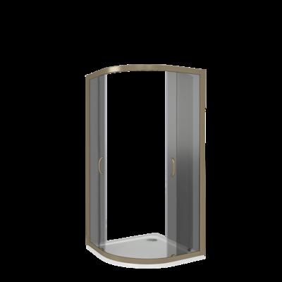 Душевое ограждение GOOD DOOR JAZZE R-80-G-BR (фото, вид 3)