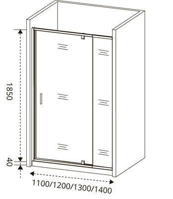 Душевое ограждение GOOD DOOR ORION WTW - PD-130-G-CH (фото, вид 2)