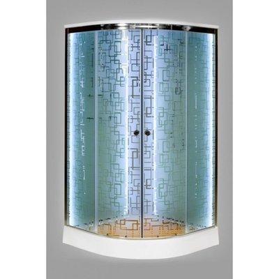 Душевая кабина DETO ЕМ1580 LED с гм. (фото, вид 1)