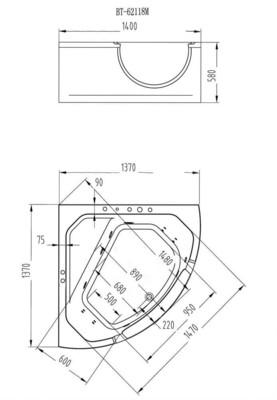 Гидромассажная ванна Orans BT-62118М (фото, вид 7)