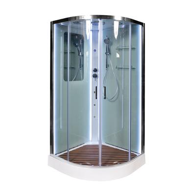 Душевая кабина DETO А09 LED с кнопкой и гидромассажем (фото, вид 1)