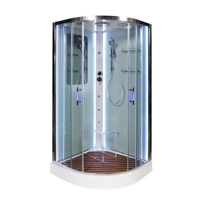 Душевая кабина DETO А09 LED с кнопкой и гидромассажем (фото, вид 2)