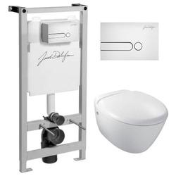 Унитаз с инсталляцией Jacob Delafon Presquile E4440-00+E5504-NF+кнопка E4326-00