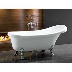 Акриловая ванна Cerutti SPA C-2014 1500x750x730 на львиных лапах (Хром)