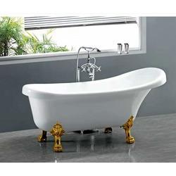 Акриловая ванна Cerutti SPA C-2014-1 1500x750x730 на львиных лапах (Золото)