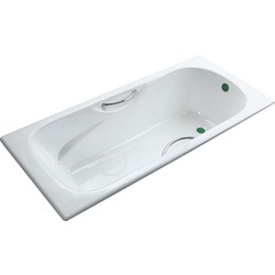 Чугунная ванна Fiinn F-180х80х42 см с ручками