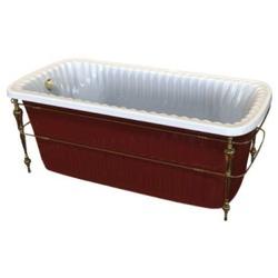 Ванна Migliore OLIVIA 174x80 console красная панель фурнитура золото