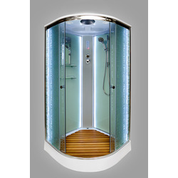Душевая кабина DETO ЕМ1590 LED с гм.
