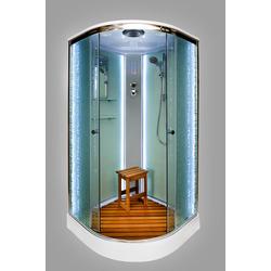 Душевая кабина DETO ЕМ1510 LED с гм.