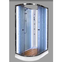 Душевая кабина DETO ЕМ1511 R N LED с гм.